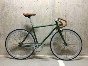 Зеленый fixed gear vintage